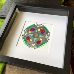 Little Bird Mandala, framed