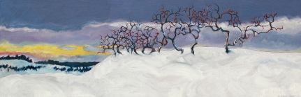 """Winter Song - oil on canvas - 8"""" x 24"""""""