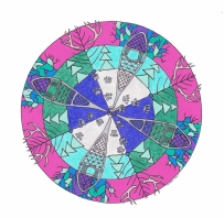 Snowshoe Mandala (January) - SOLD