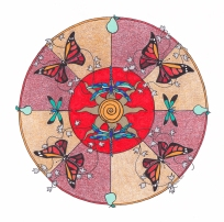 Butterfly Mandala (July) - $125