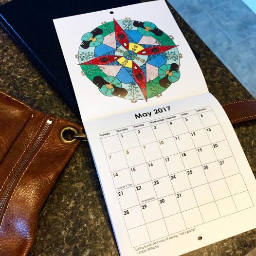 2017 mandala calendar may