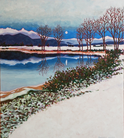 "Wolf Moon - oil on canvas - 34"" x 30"""