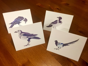 pied corvid notecards